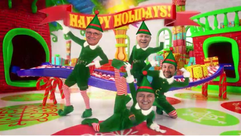GeoDecisions leadership bringing theholiday cheer in the workshop!