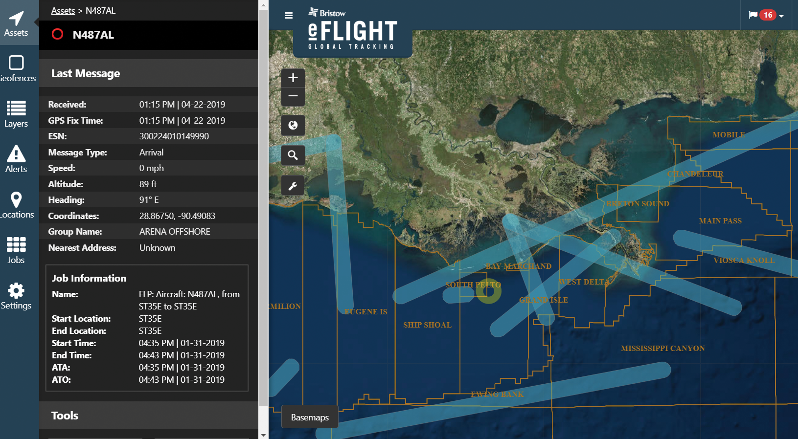 Bristow operators monitor over 73,000 takeoffs and landings annually with GeoDecisions Track.
