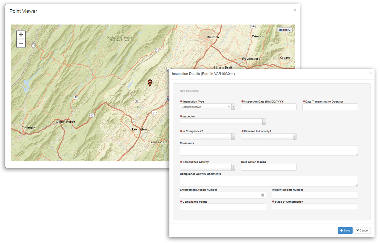 Easily track permit inspections directly from the map viewer.