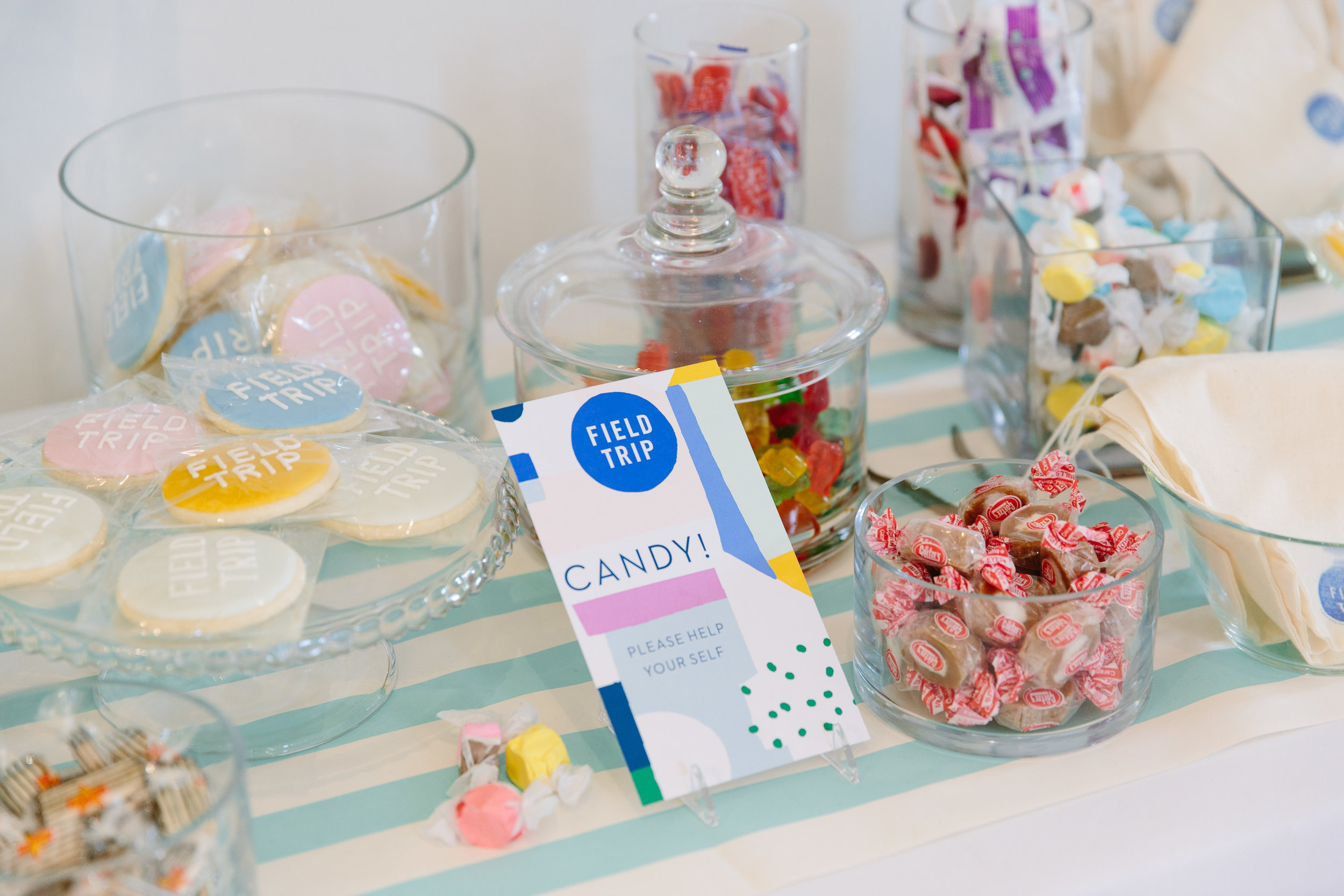 Our lovely candy table — clients are invited to have a sweet treat!