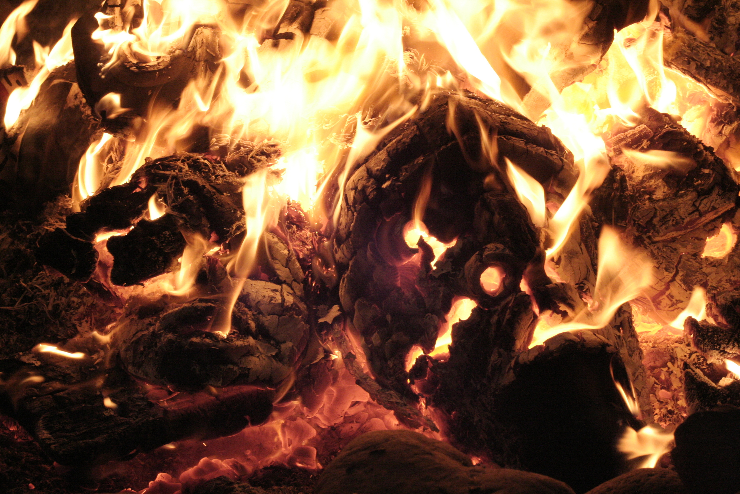 Photo by Steve Calvert from Chief Beau Dick's Potlatch, mask burning ceremony.
