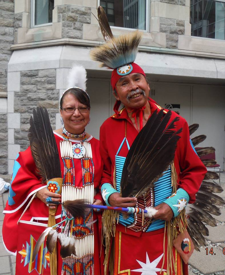 Jean Stevenson and Delbert Sampson, Elders of the Healing Lodge Program