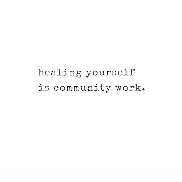Show up for yourself. Show up for your community ✊🏽