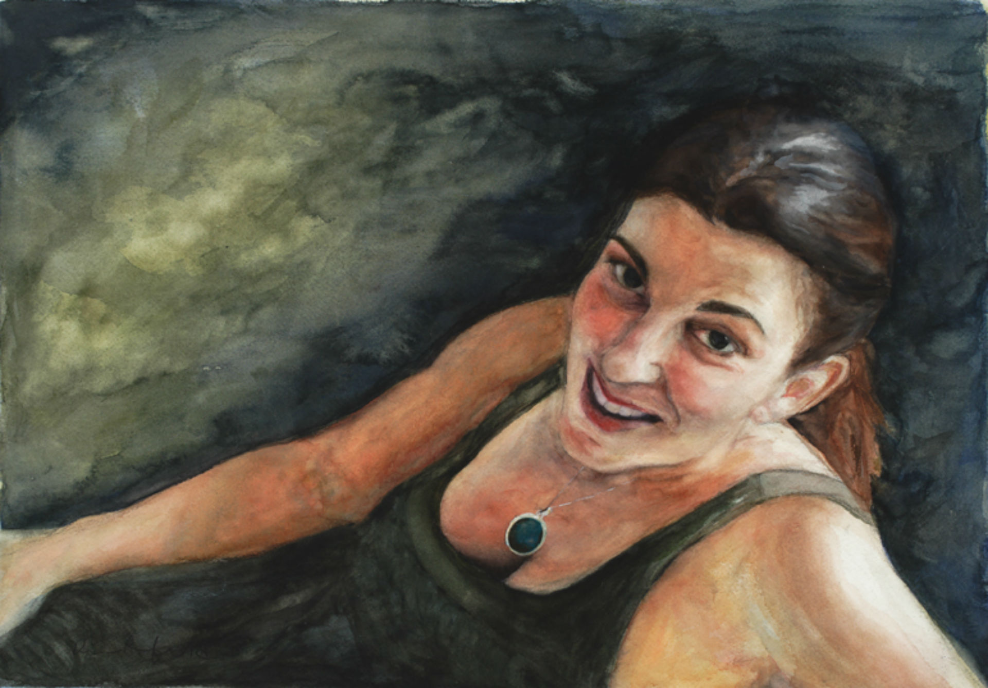 Self Portrait, watercolor, NFS