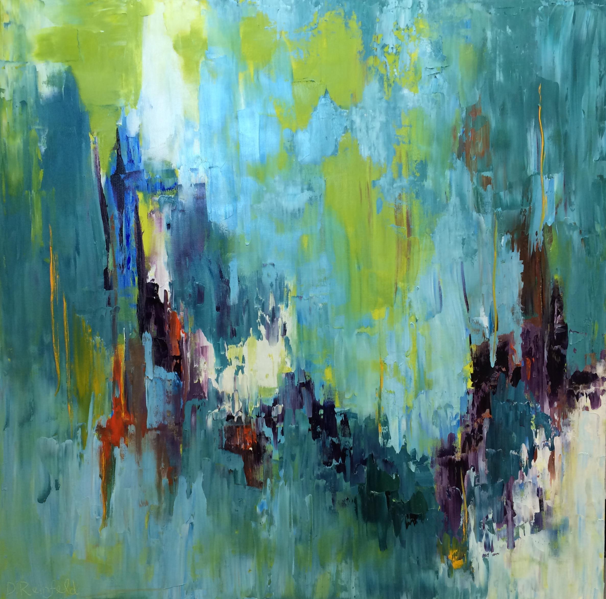 "Still. Calm. Change. oil on canvas, 36""x36""  $2300"