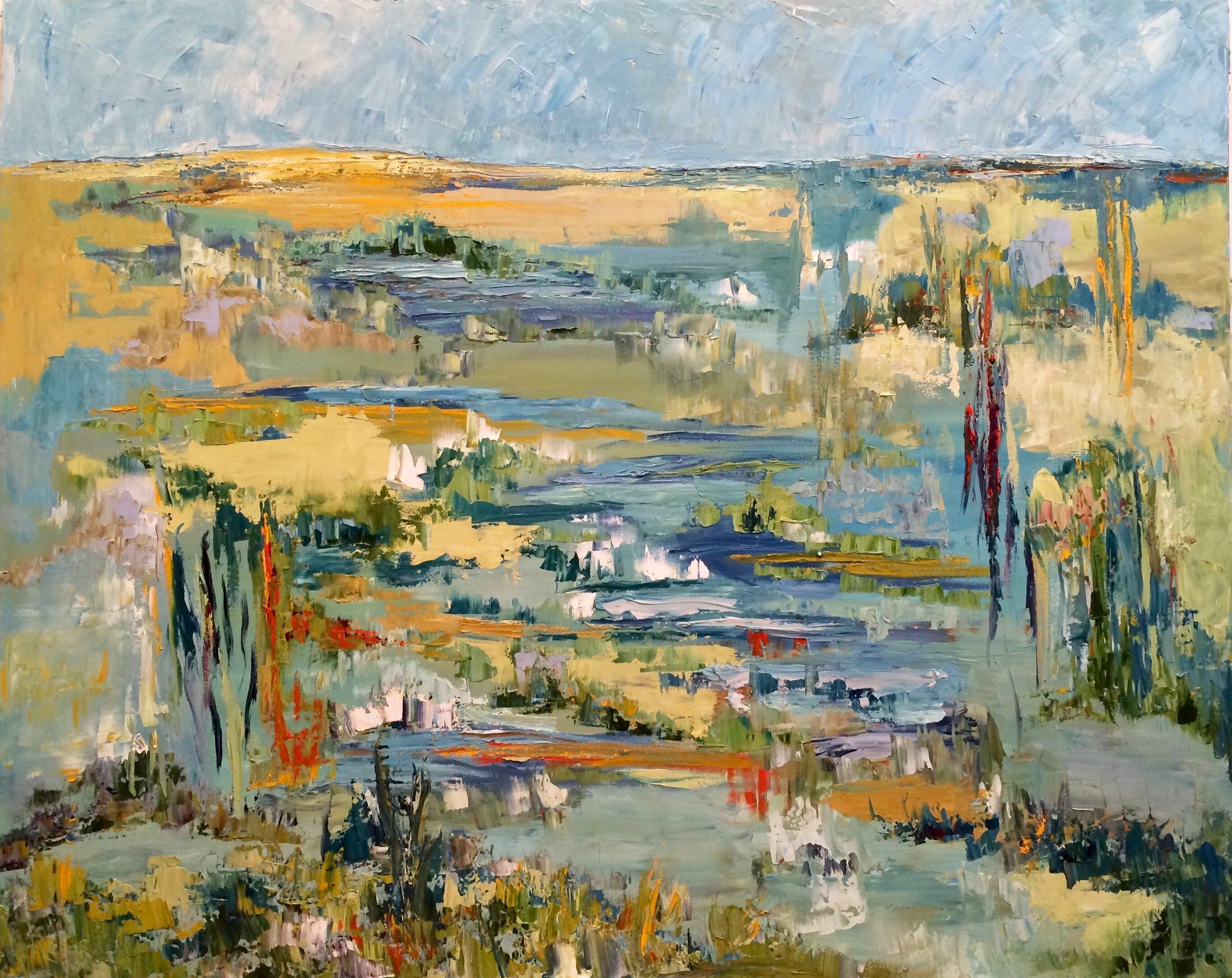 """Prairie Dance, oil on canvas, 48""""x60"""" $3600"""
