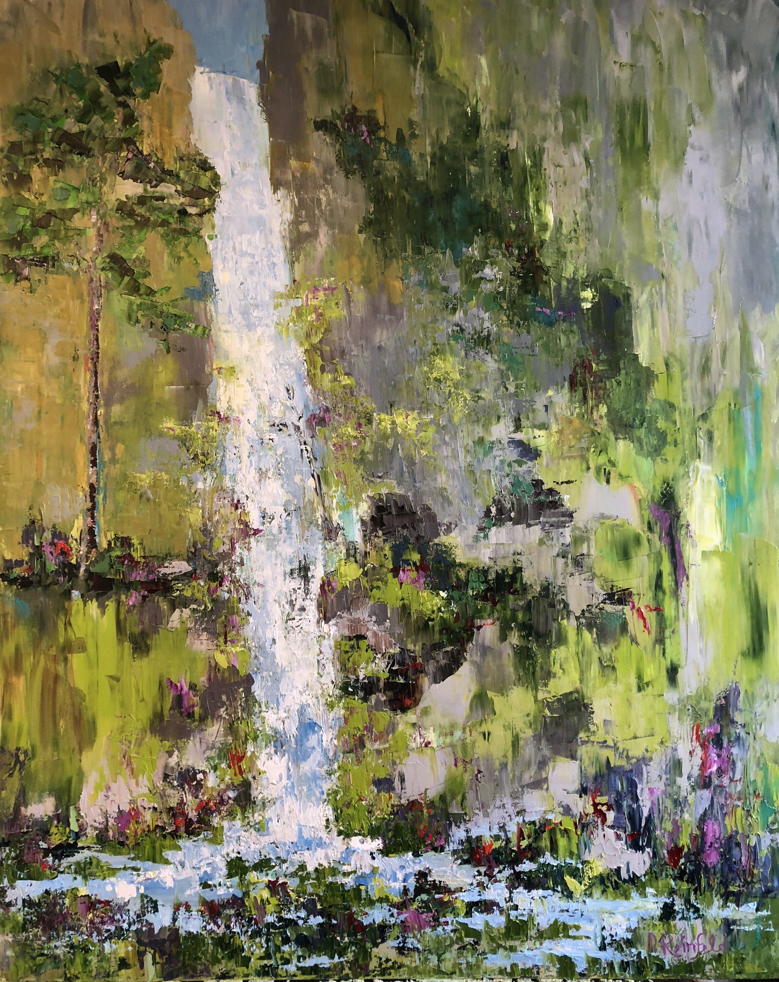 "Hidden Sanctuary, oil on canvas, 60""x48""  $3600"