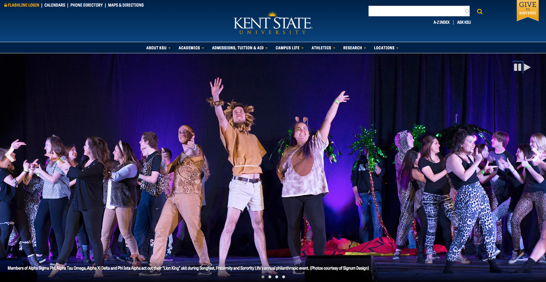 From the Kent State University home webpage.        __________________________________________________________