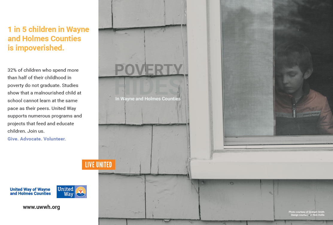 Poverty Hides - United Way of Wayne and Holmes County - Design by Nick Hollis