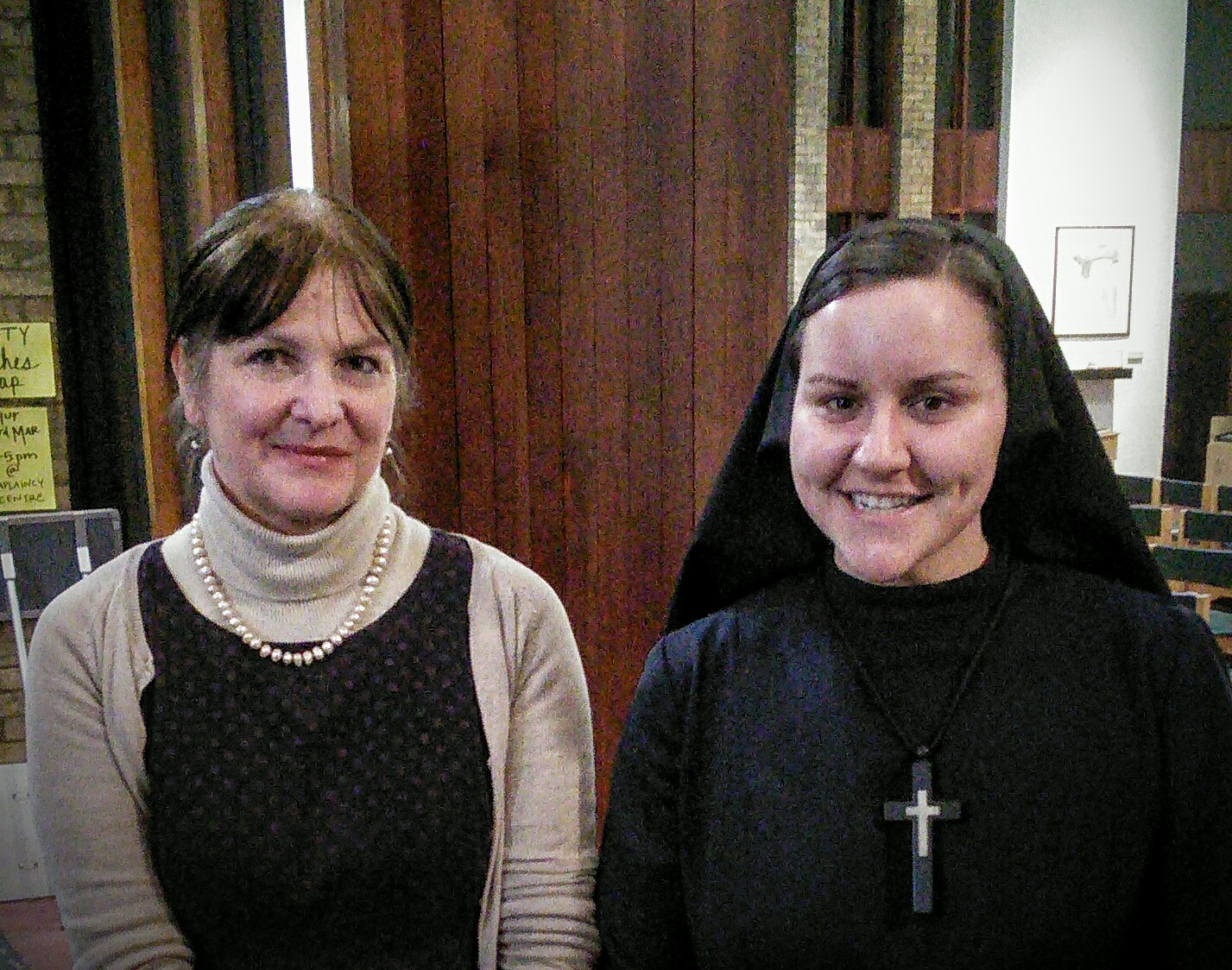 Jan Graffius, with Sr Maria Juan