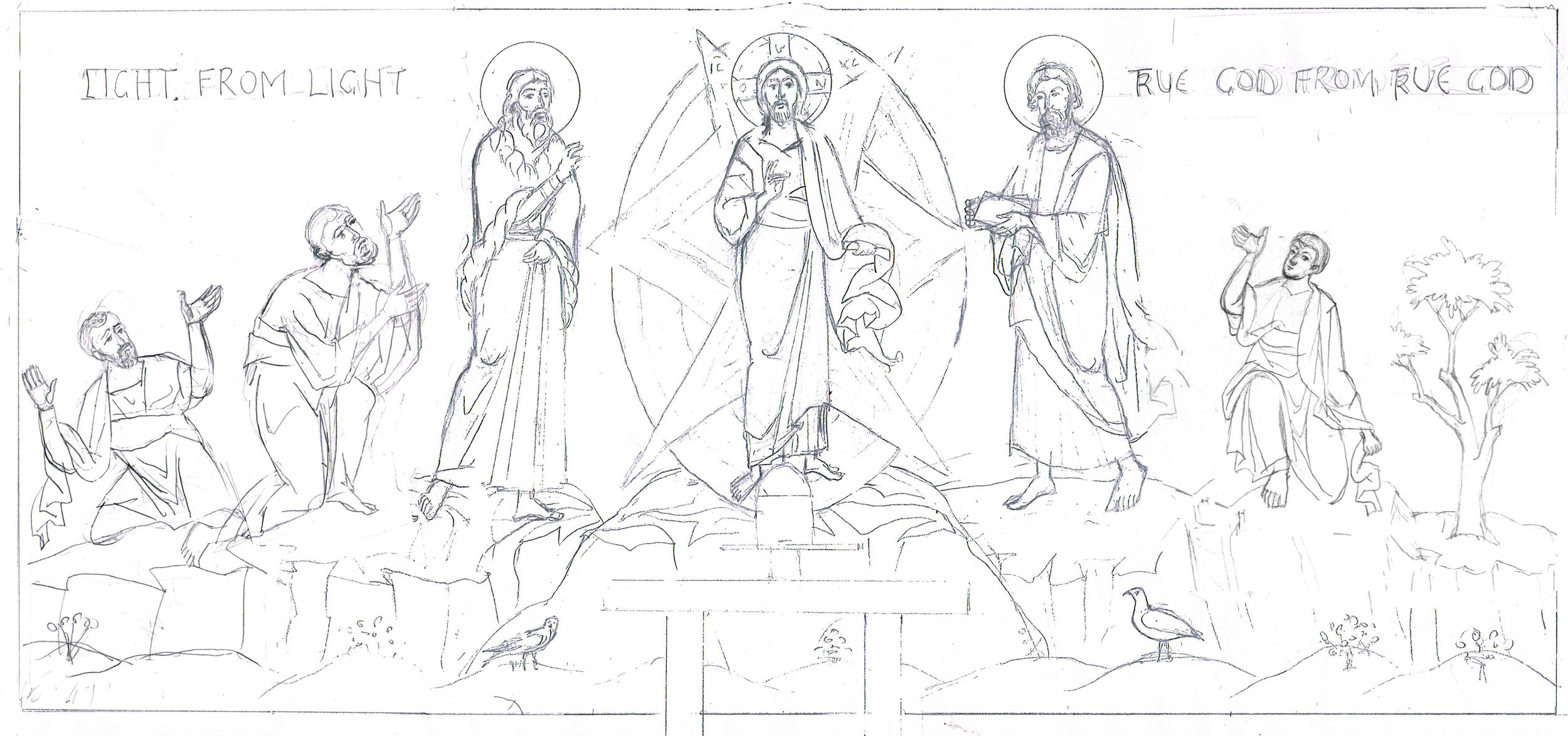 A sketch of the design that Aidan Hart will paint.