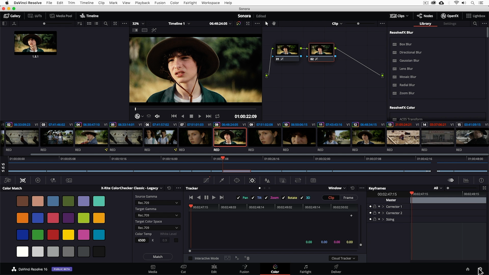 The Color page is the cornerstone of DaVinci Resolve.