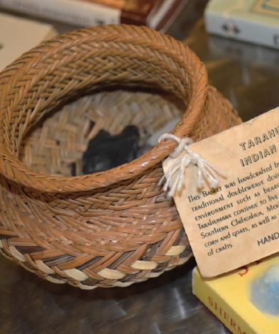 A handmade Tarahumada basket.
