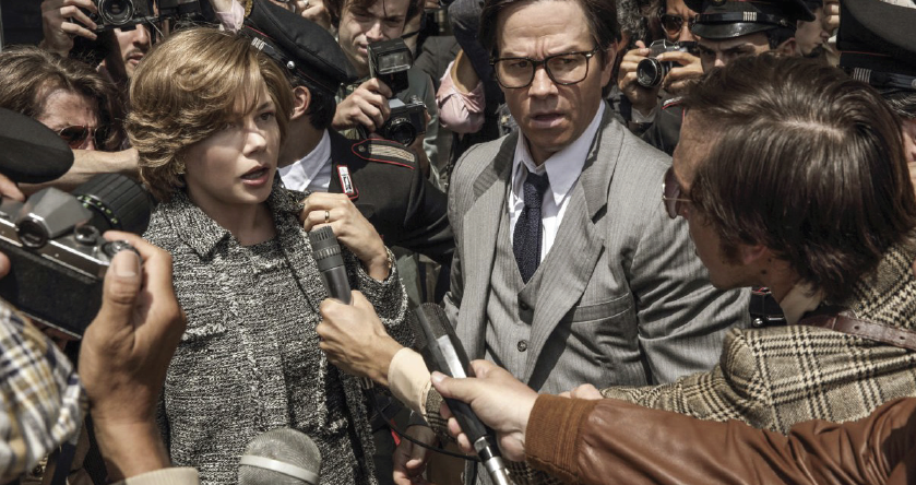 "This image released by Sony Pictures shows Michelle Williams and Mark Wahlberg in TriStar Pictures' ""All The Money in the World."""