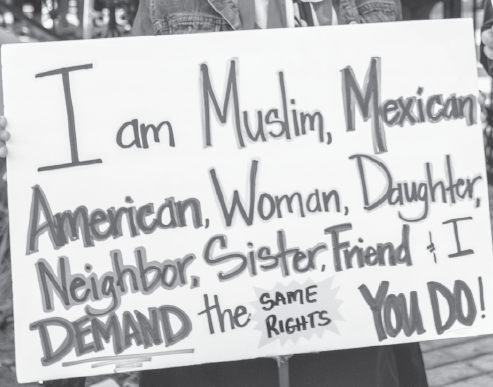 A protest sign at Dallas women's March on Jan. 20.