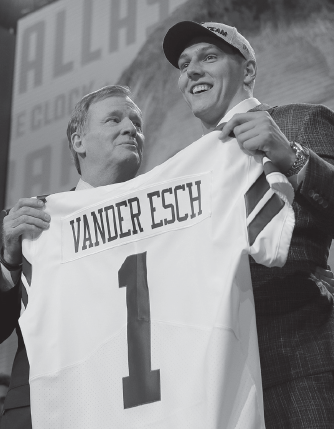 The Cowboys drafted Leighton Vander Esch from Boise State on April 26.