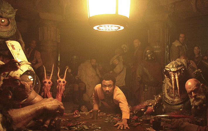 "Donald Glover portrays Lando Calrissian in ""Solo: A Star Wars Story."""