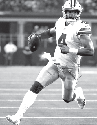 Team captain Dak Prescott leads the Cowboys this season.
