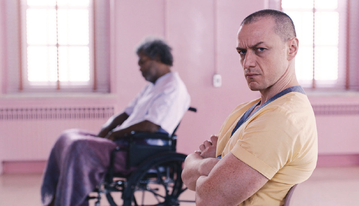 """Samuel L. Jackson, left, and James Star McAvoy in """"Glass."""""""