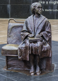 Sculpture of Rosa Parks in Downtown Dallas.