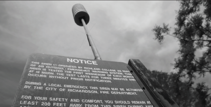 Outdoor warning sirens on the Richland campus alert students to dangerous weather.