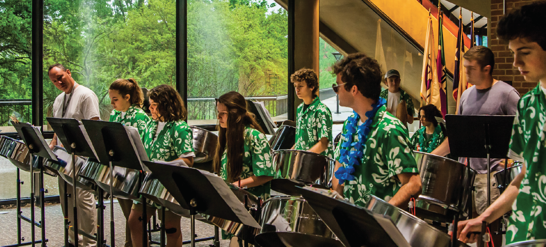 Prosper High School's steel drum ensemble performs during the Carnival of Steel Festival at Richland on April. 14.