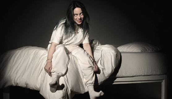 "The cover shot of Billie Eilish's new album ""When We All Fall Asleep, Where Do we Go?"""