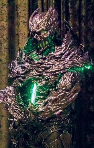 Former Richland professor Jean-Patrick Nova dressed as the Gate monster.