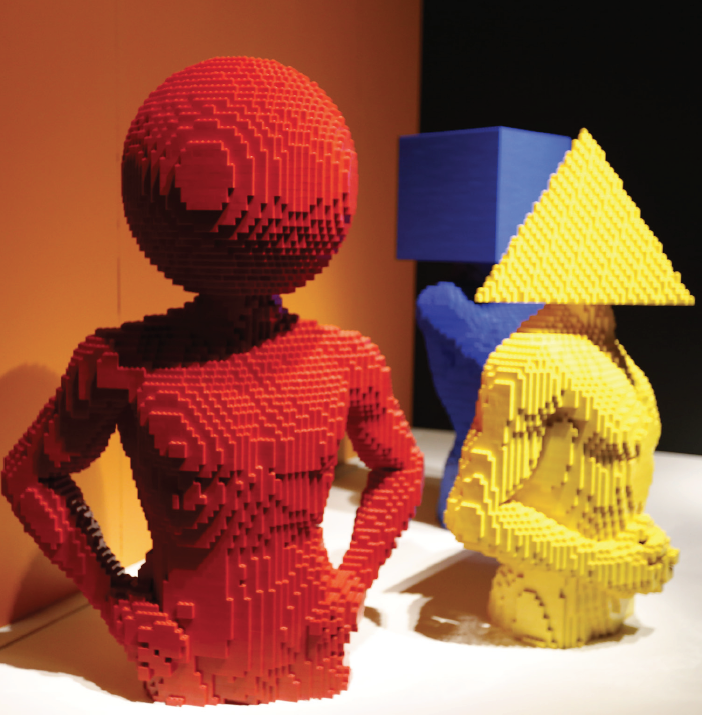 "Lego sculpture on display at the Perot as part of ""The Art of the Brick"" exhibition."