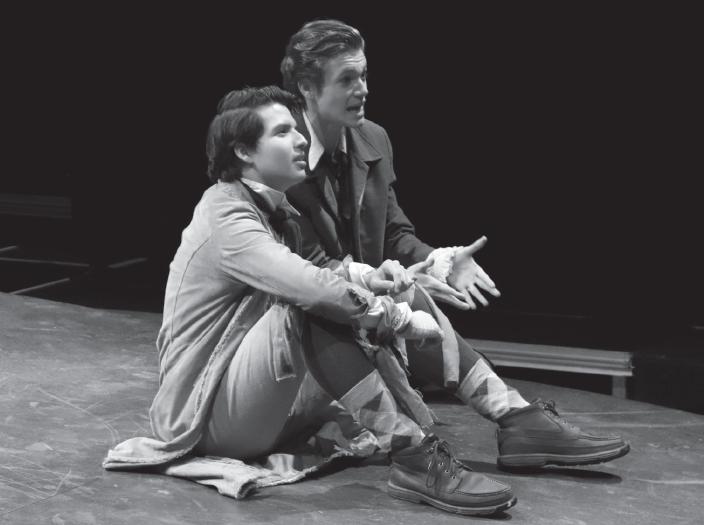 Sheldon Vielma, left, as John Thoreau and Ben Stegmair as Henry Thoreau, in jail.