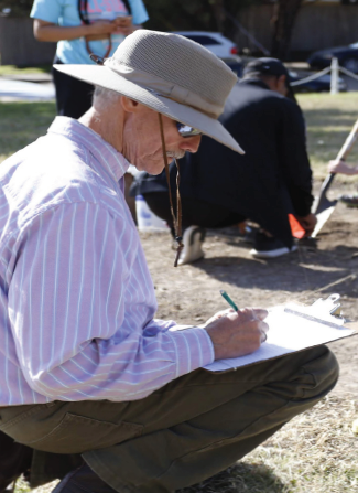 Dr. Tim Sullivan documents findings as part  of the Little Egypt project in Lake Highlands.
