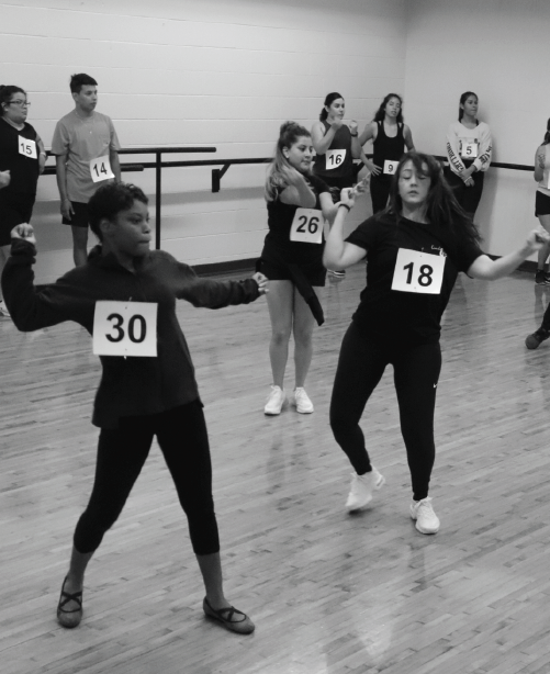 Dancers perform in an effort to join Richland dance.