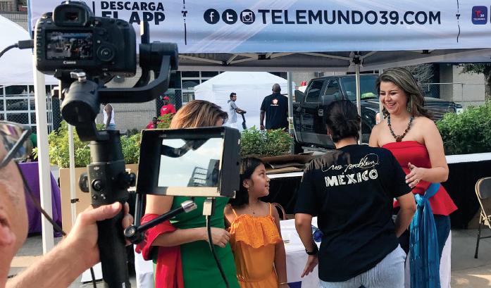 Telemundo Video sets up at the Hispanic Heritage Festival in Dallas Sept. 15.