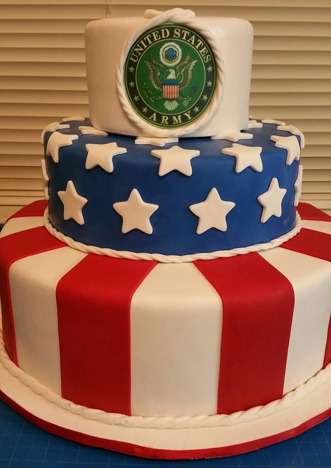 2016 VA Hospital Army Birthday Cake