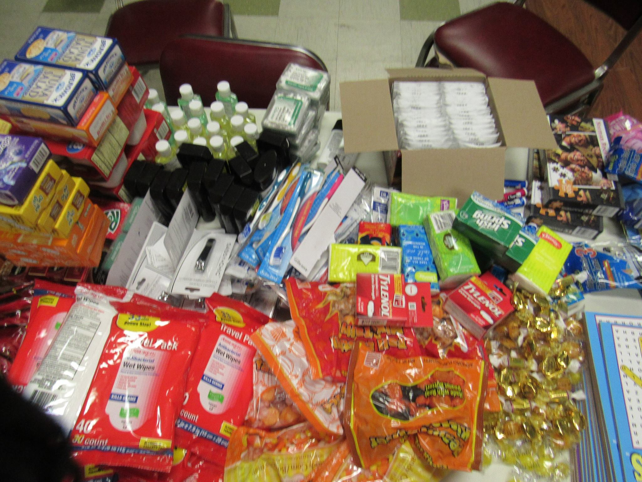 Goodies for winter care packages 2016