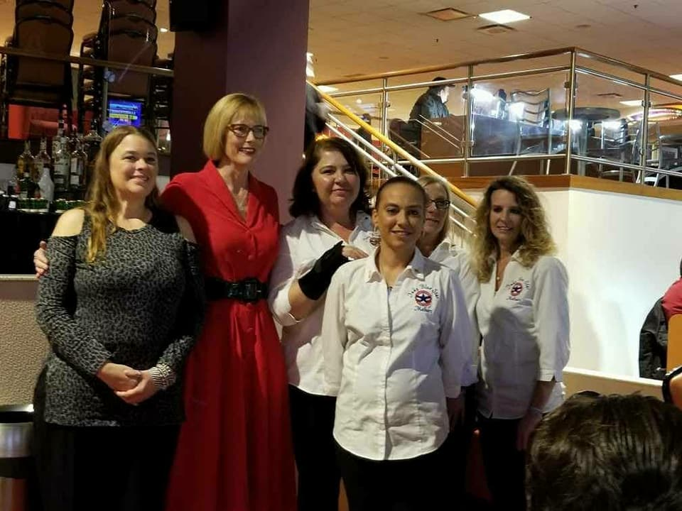 Very proud of the Indy Blue Star Mothers and two Hoosier Gold star mothers for representing at Hoosier Park Racing and Casino and winning huge $$$ for our Hoosier veterans this winter. Picture taken with the Lt. Govenor Suzanne Crouch who won in 2012 Public Policy Award from the Arc of Indiana for her work with people with disabilities.