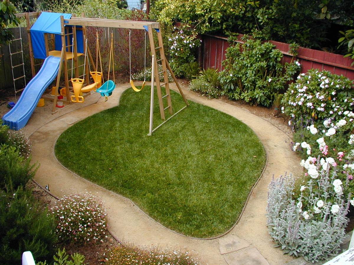"""We wanted a yard that was both visually attractive and fun for our children.  - Sharon Heath"