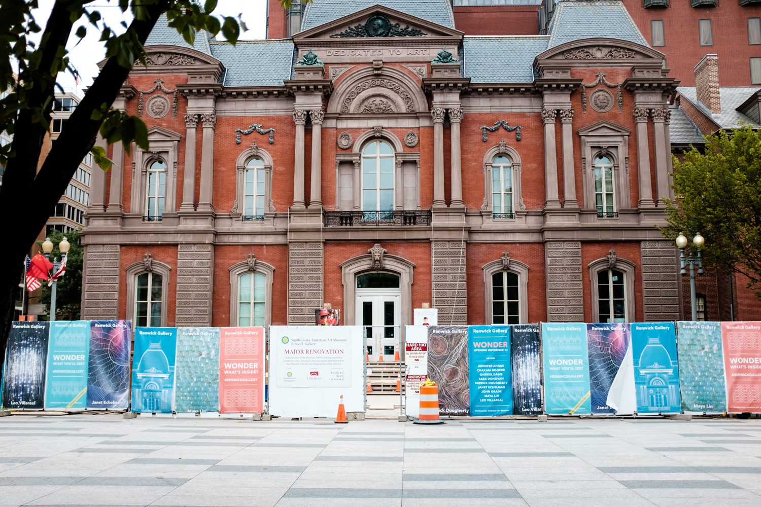 The Renwick, nearing the end of a major two-year renovation