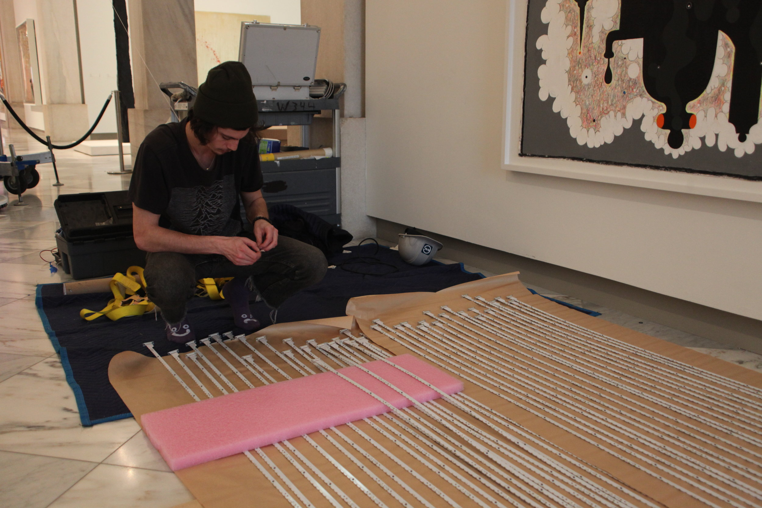 Parallel's, Ian DaRin, putting together PCB strands