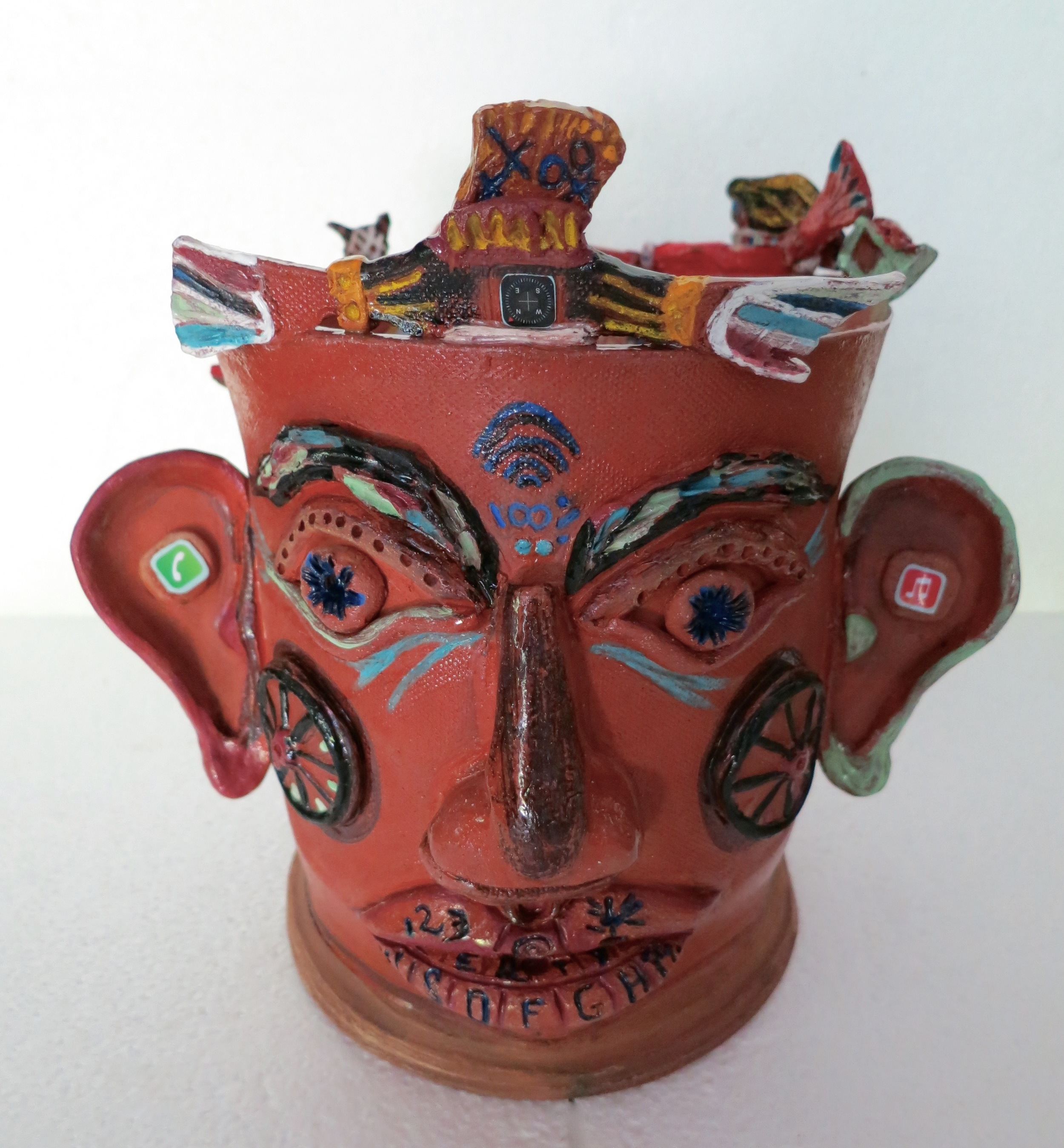 Stuffed, mixed media earthenware,front view_1935.jpg