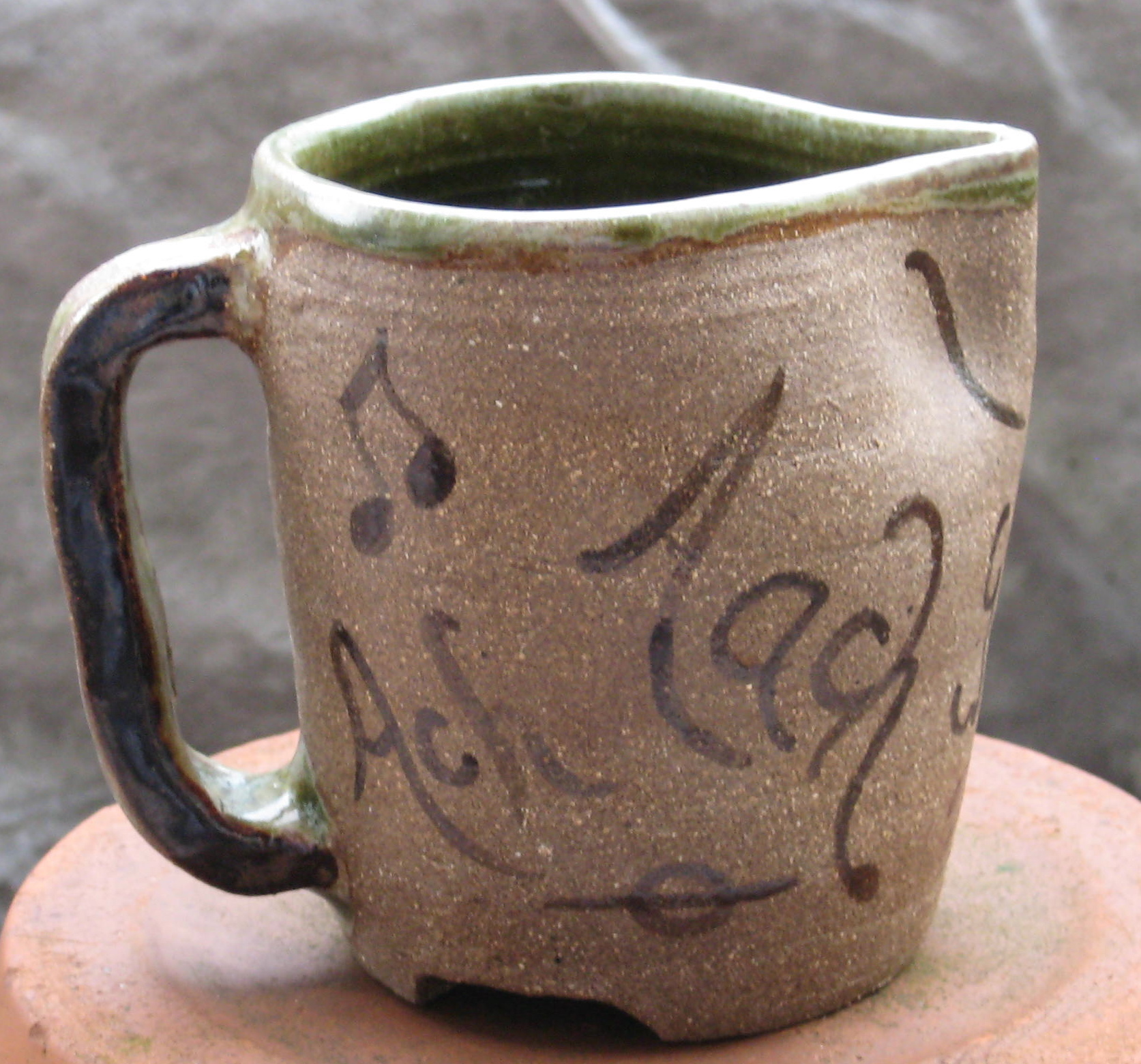 Pitcher, w Bach Coffee Cantata notes