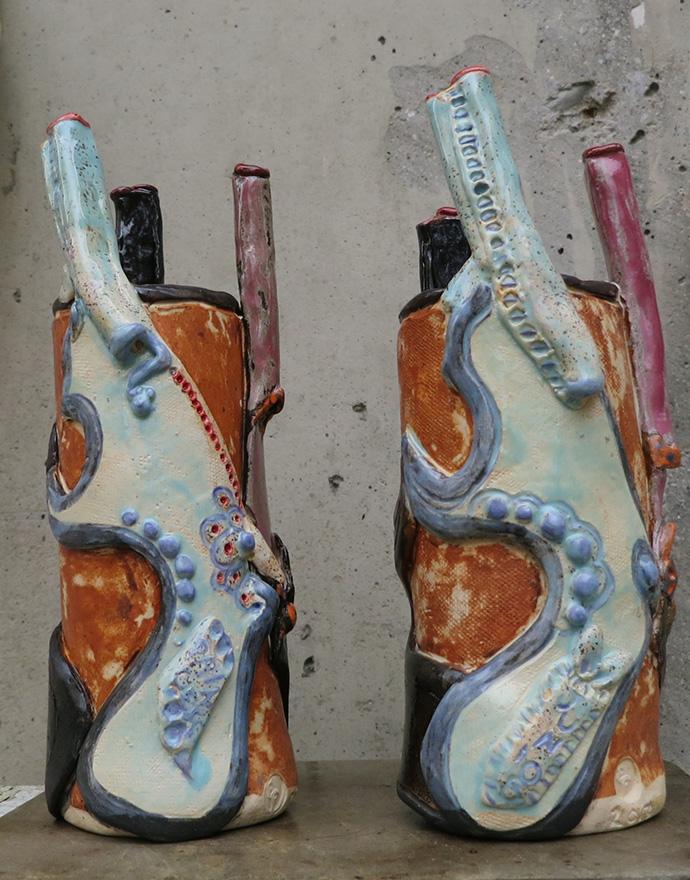 Gun vases (2)