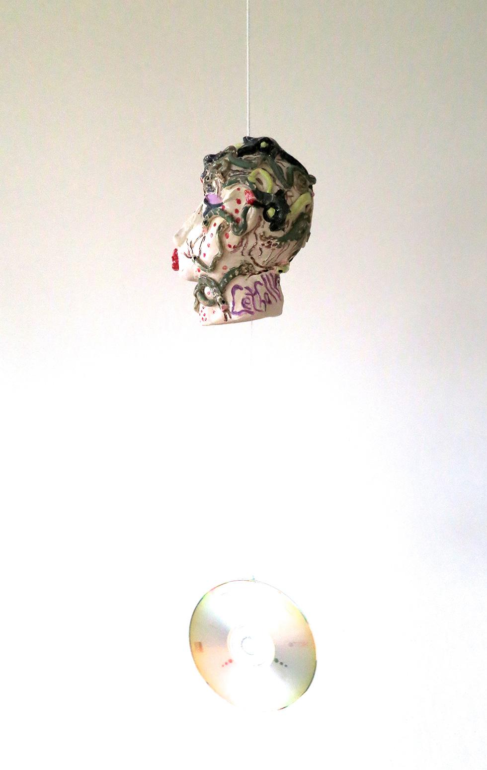 Lethally lovely 1, ceramic bell, back
