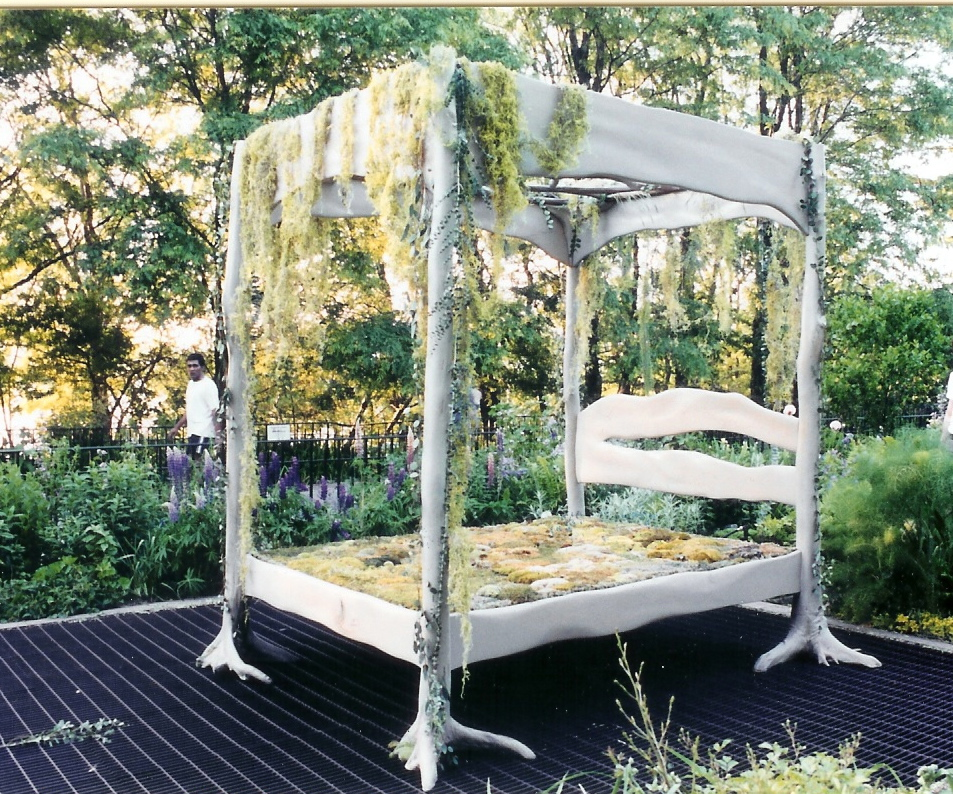 The Bed of Trees in Riverside Park, NYC.  My design was used in this art project, conceived and completed with Penny James.