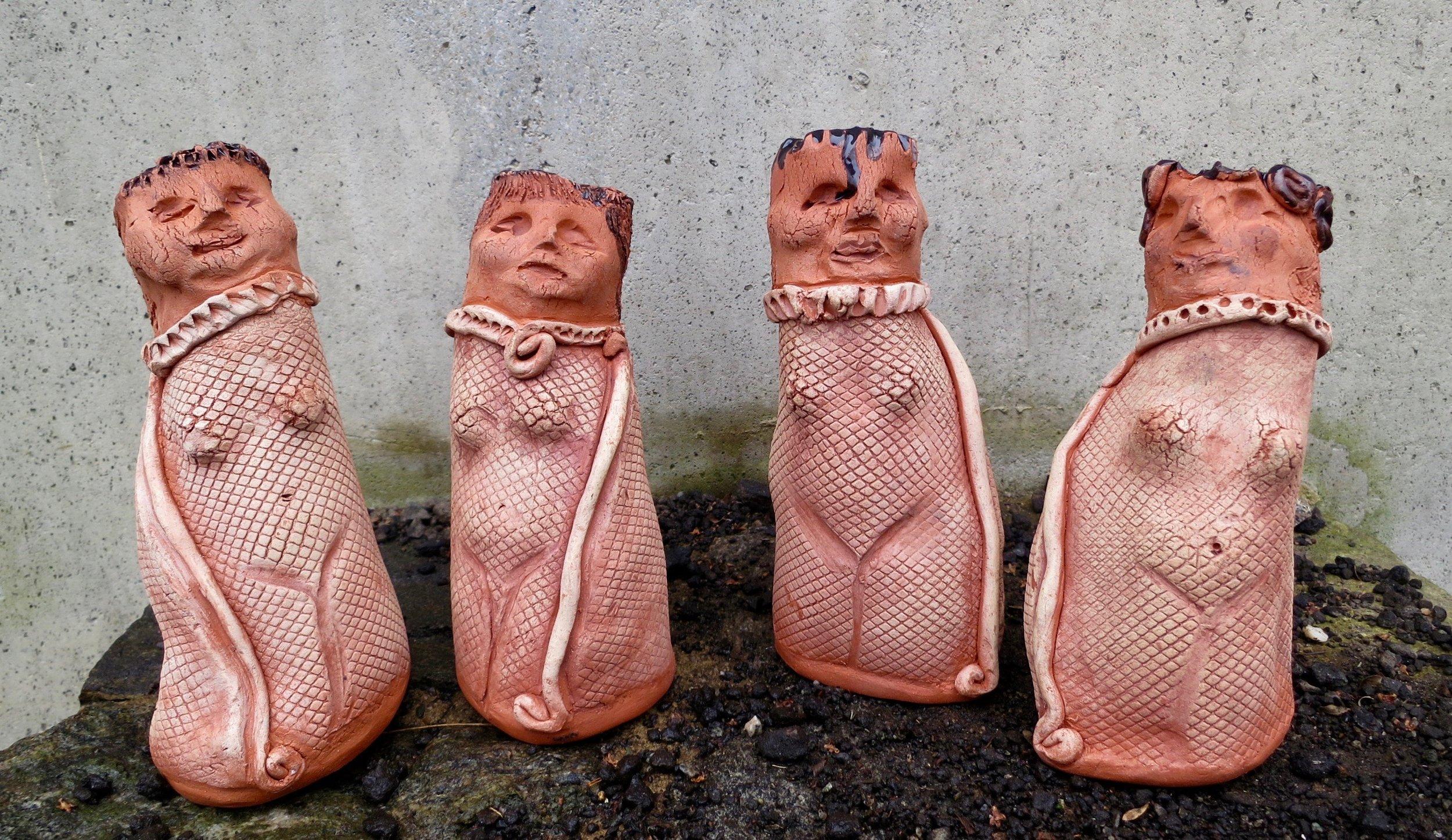 Four Earth Goddesses, ceramic