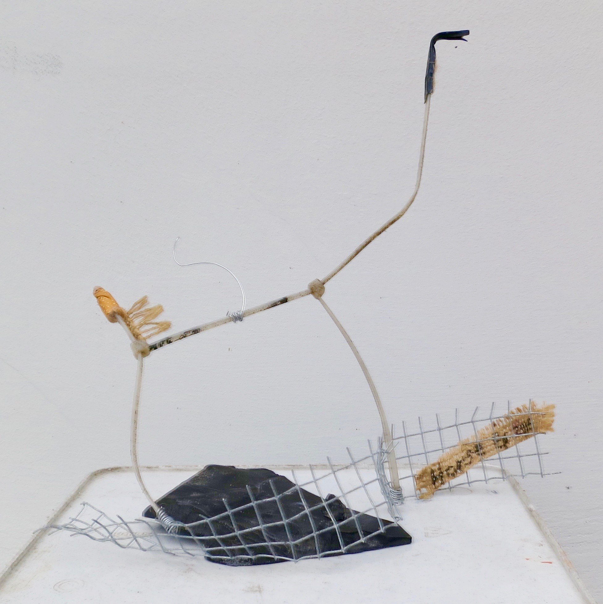 Horse, mixed media sculpture of found objects