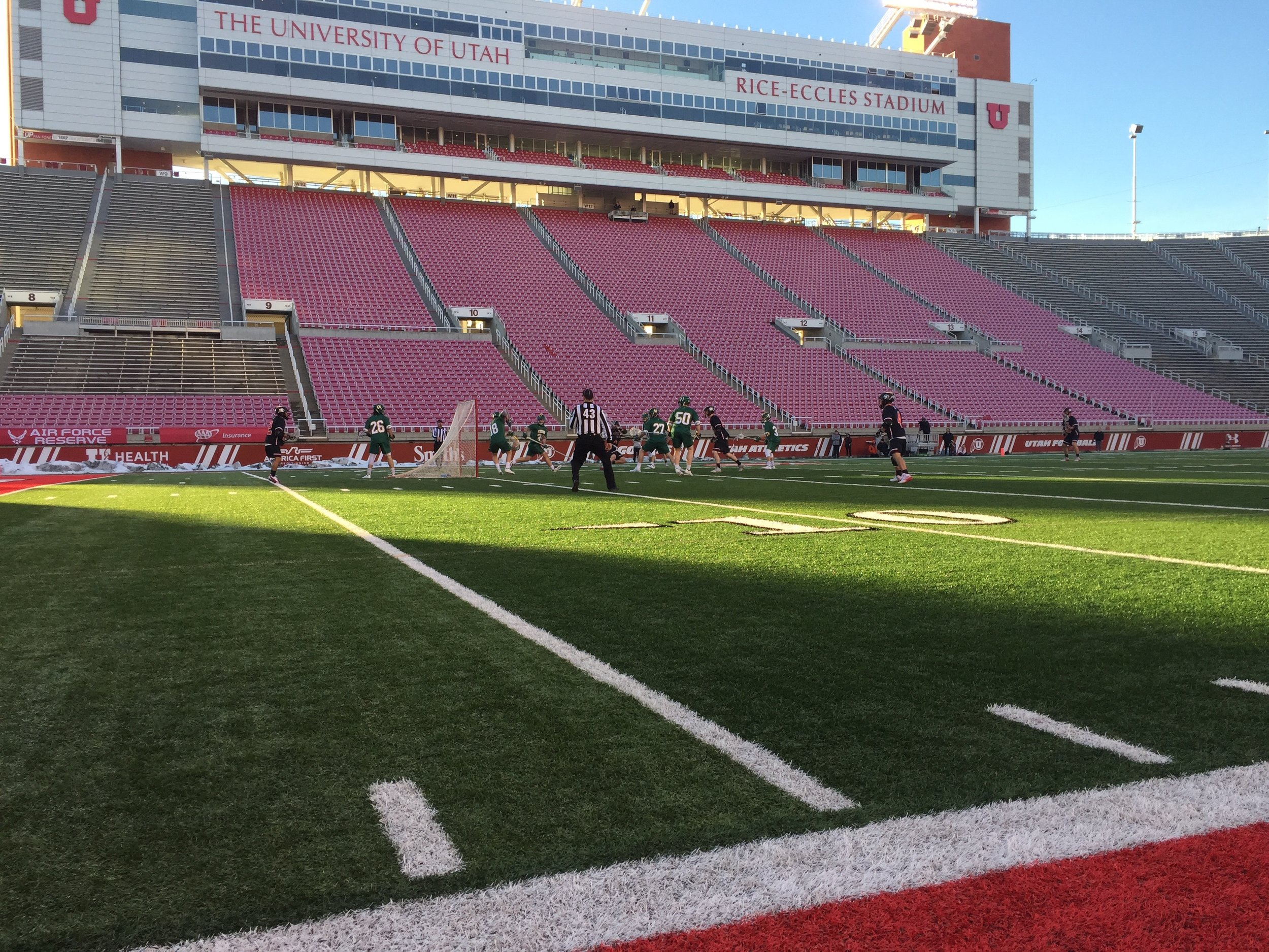 The Utes played the Vermont Catamounts in the first Pac-12 DI lacrosse game ever