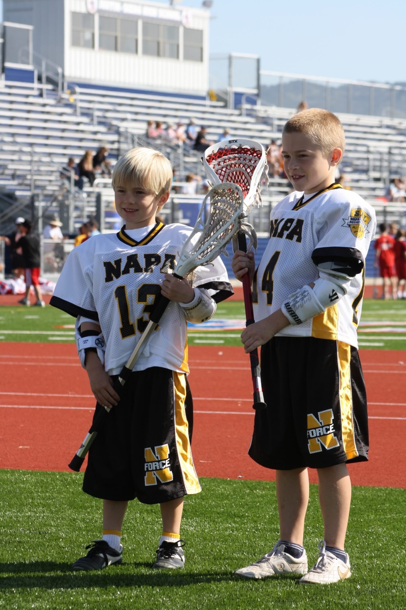 Jack (#14) & Bennett Goller (#13) started playing lacrosse together in Napa, CA