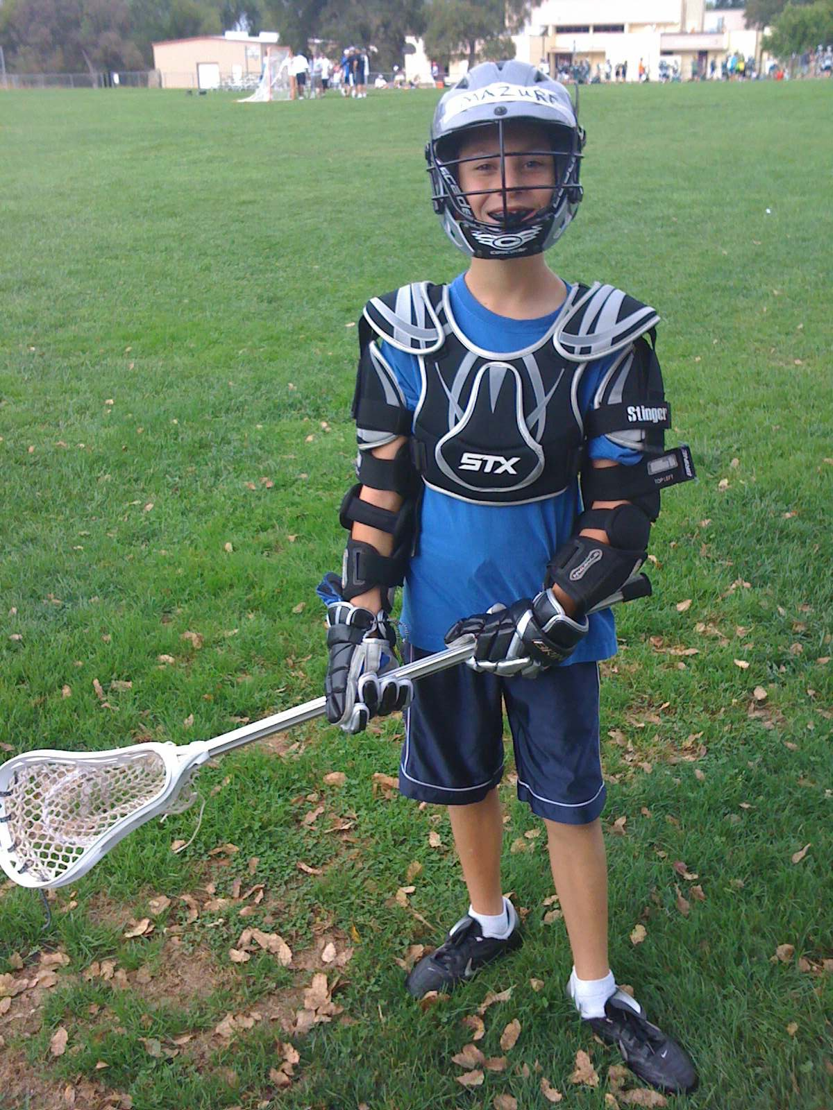 Mazure started playing lacrosse when he was 9 years old.