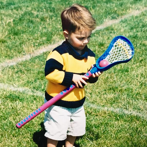 Wood was drawn to lacrosse at an early age.